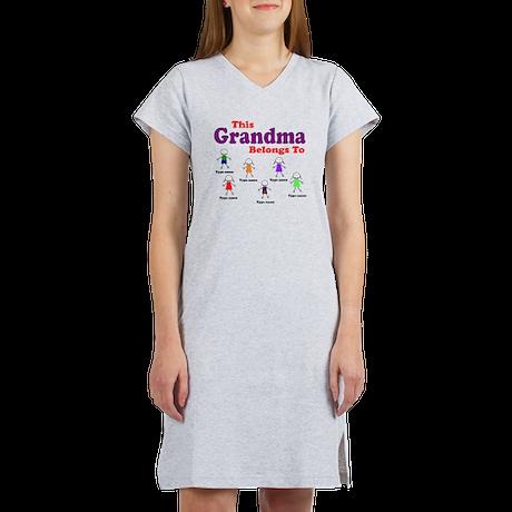Personalized Grandma 6 kids Women's Nightshirt