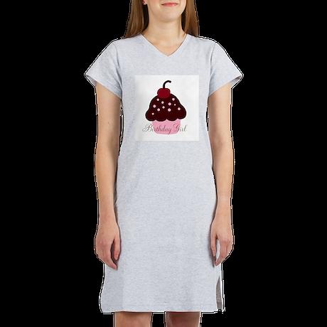 Birthday Girl Cupcake Women's Nightshirt