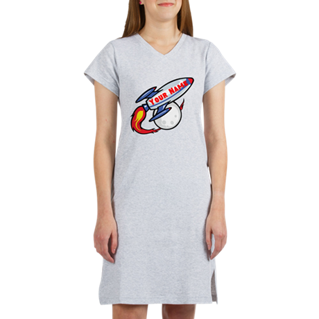 Personalized rocket Women's Nightshirt