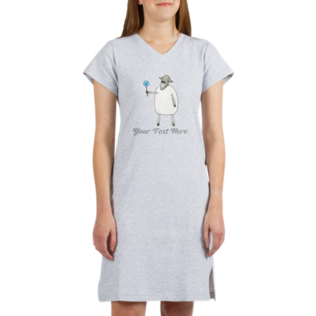 Sheep and Custom Text. Women's Nightshirt