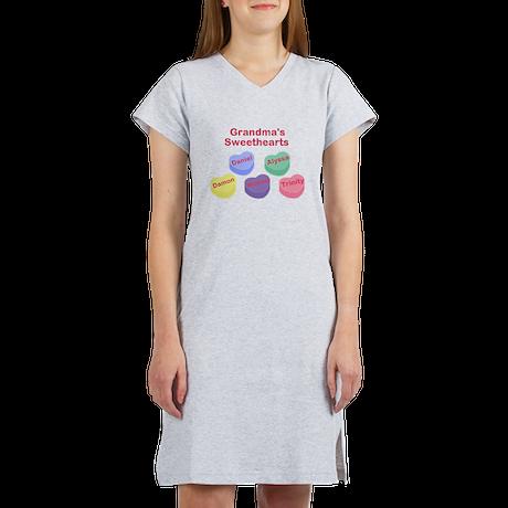 Custom Grand kids sweethearts Women's Nightshirt