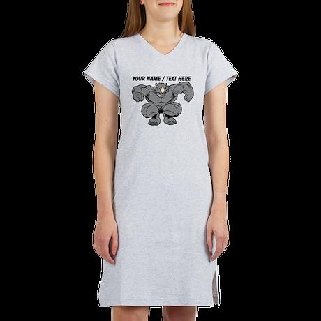 Custom Rhino Mascot Women's Nightshirt