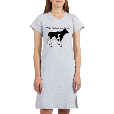 Custom Cow Sketch Women's Nightshirt