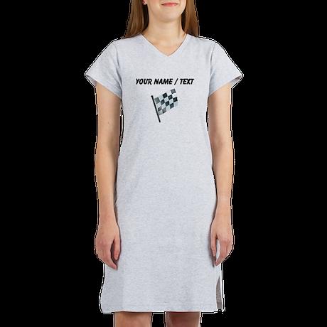 Custom Checkered Flag Women's Nightshirt