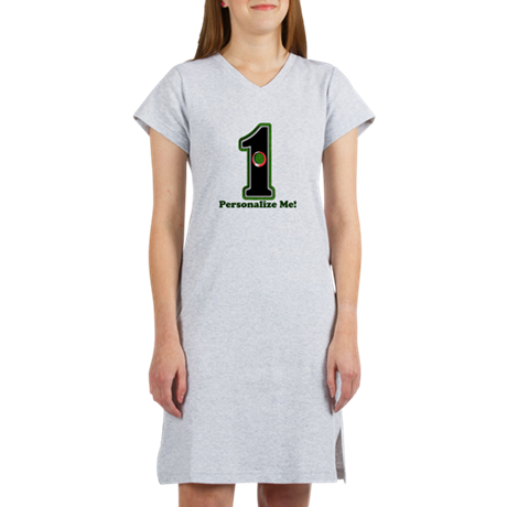 Customized Lucky Golf Hole in O Women's Nightshirt