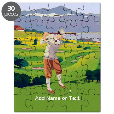 Personalized Golf Highlands Golfing Scene Puzzle