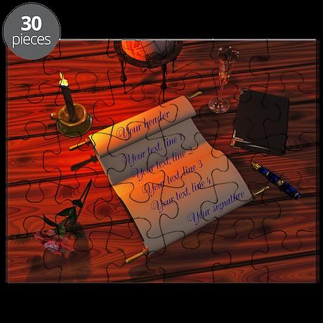Personalizable handwritten letter Puzzle
