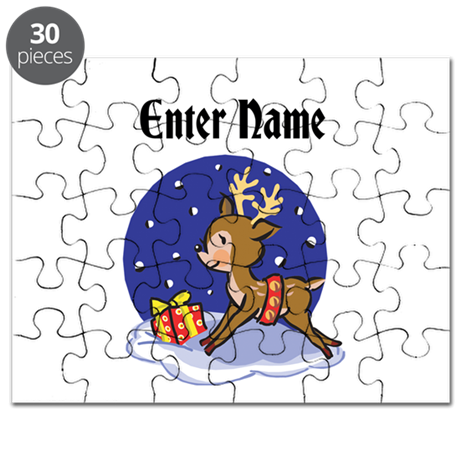 Personalized Christmas Reindeer Puzzle