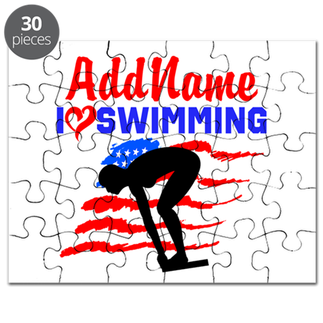 SWIMMER GIRL Puzzle
