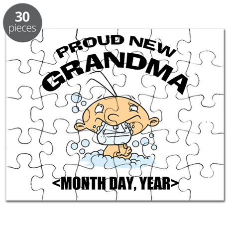 Proud New Grandma Personalized Puzzle