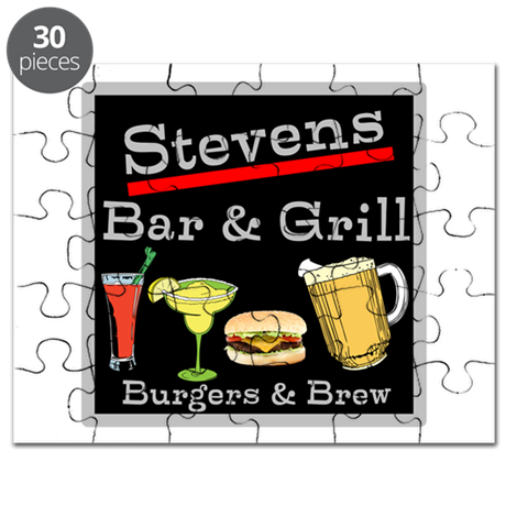 Personalized Bar and Grill Puzzle