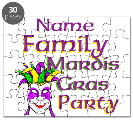 Customizable Mardi Gras Puzzle