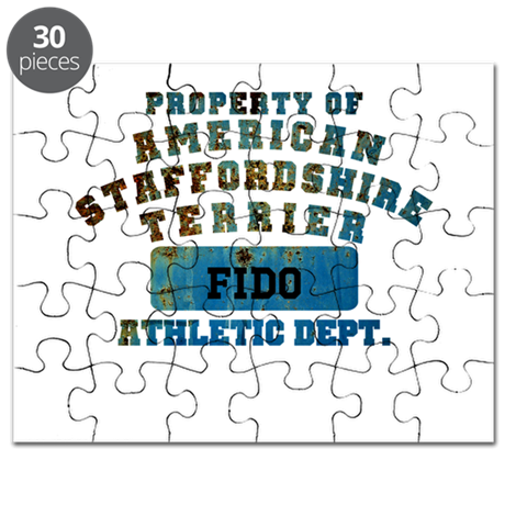 Personalized American Staffordshire Puzzle