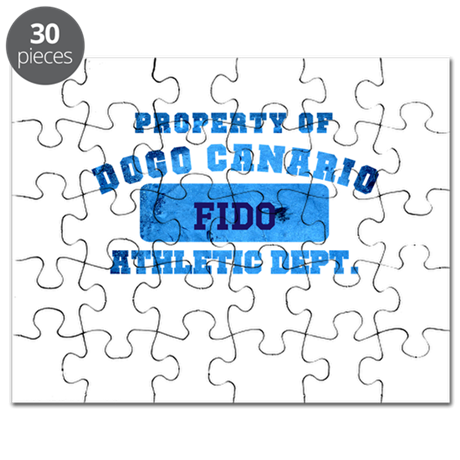 Personalized Property of Dogo Canario Puzzle