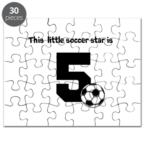 Little Soccer Star Custom Age Puzzle
