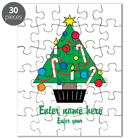 Personalized Christmas Tree Puzzle