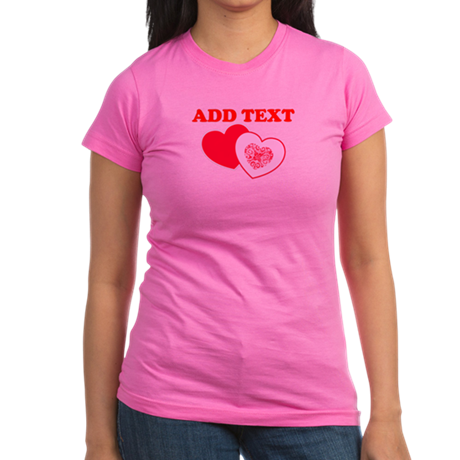 Valentine's Day Hearts Junior Jersey T-shirt (dark