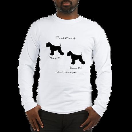2 Schnauzers Long Sleeve T-Shirt