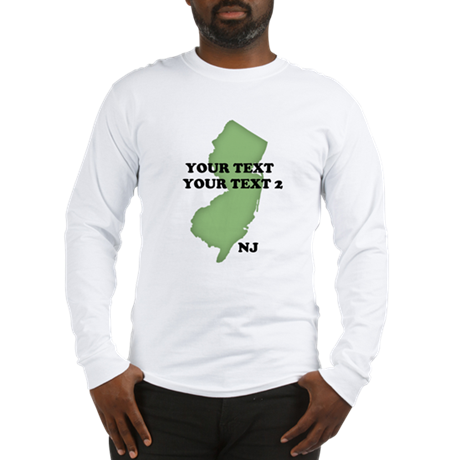 NJ YOUR TEXT Long Sleeve T-Shirt