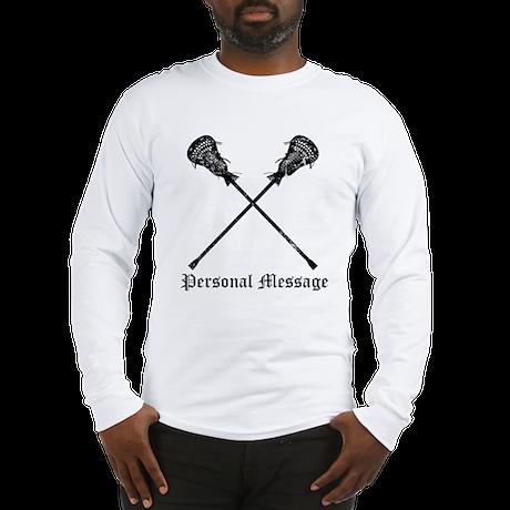 Personalized Lacrosse Sticks Long Sleeve T-Shirt