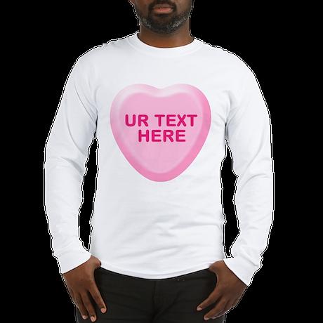 Banana Candy Heart Personalized Long Sleeve T-Shir