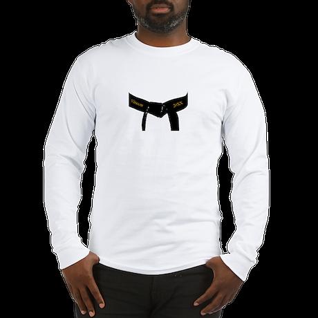 Custom Martial Arts Black Belt Long Sleeve T-Shirt