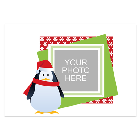 Personalized Christmas 3.5 x 5 Flat Cards