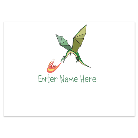 Personalized Dragon 4.5 x 6.25 Flat Cards