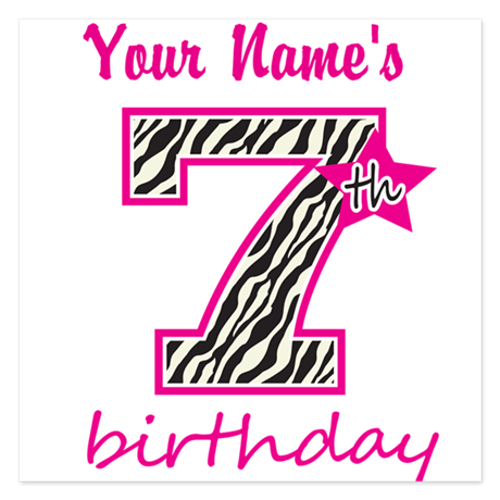 7th Birthday - Personalized Flat Cards by MightyBaby