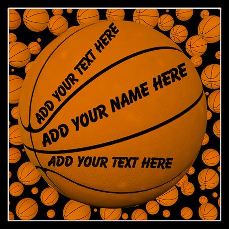 Basketball 5.25 x 5.25 Flat Cards