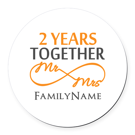 Gift For 2nd Wedding Anniversary Round Car Magnet