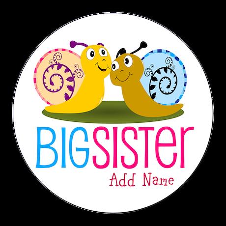 Snail Big Sister Round Car Magnet