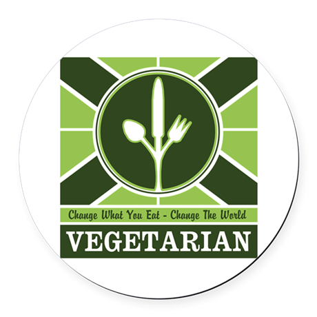 Custom Vegetarian Flag Round Car Magnet