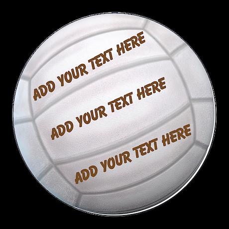 Beach Volleyball Round Car Magnet