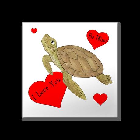 """Personalized Turtle Square Sticker 3"""" x 3"""""""