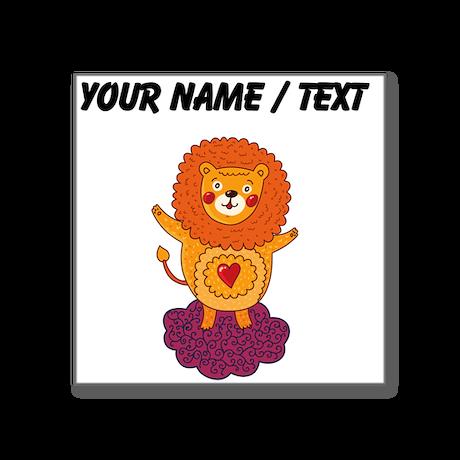 Custom Valentines Day Lion Sticker