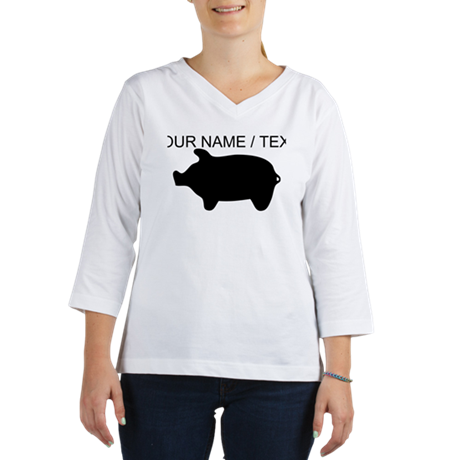 Custom Piggy Silhouette Women's Long Sleeve Shirt