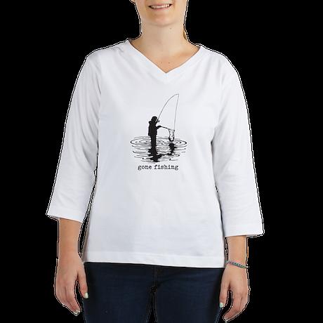 Personalized Gone Fishing 3/4 Sleeve T-shirt