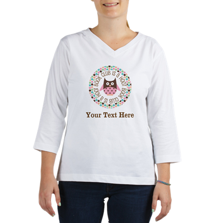 Personalized Book Club Is A Hoot Women's Long Slee