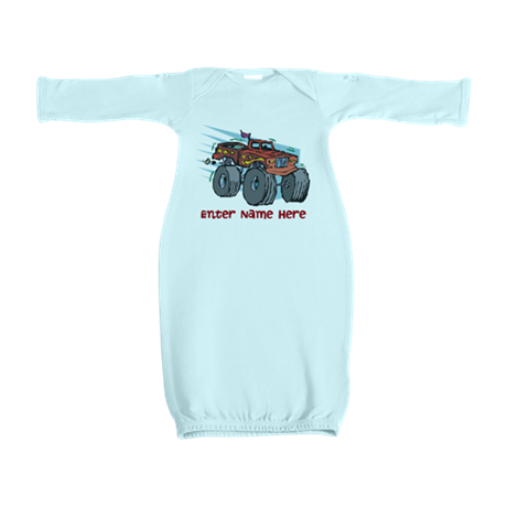 Personalized Monster Truck Baby Gown
