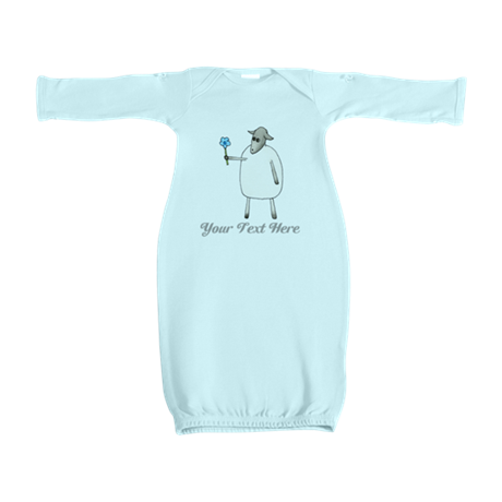 Sheep and Custom Text. Baby Gown