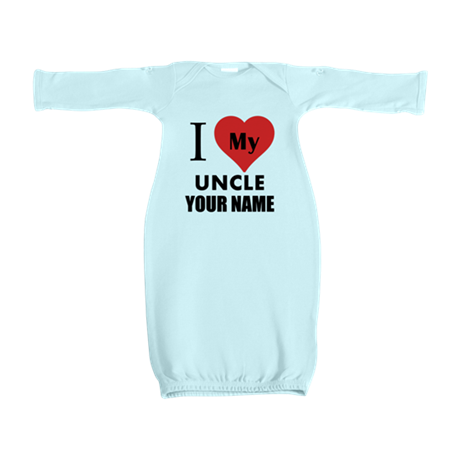 I Heart My Uncle (Custom) Baby Gown