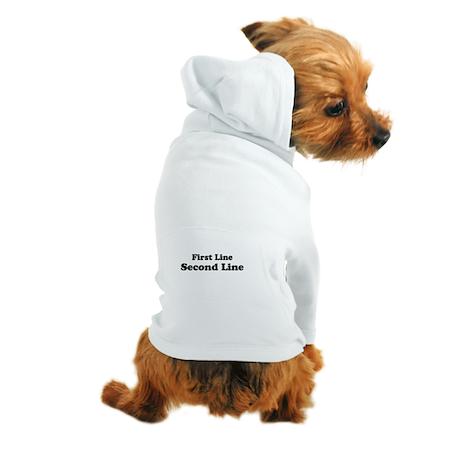 2lineTextPersonalization Dog Hoodie