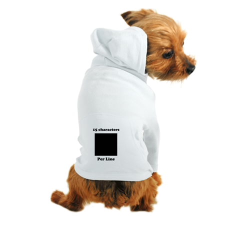 Your Picture Your Text Dog Hoodie