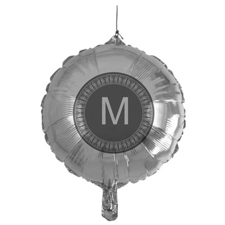 monogram fancy Mylar Balloon
