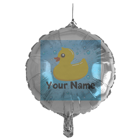 Personalized Rubber Ducky Mylar Balloon
