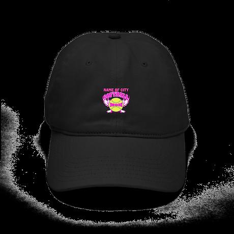 Personalize Softball Mom Black Cap
