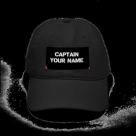CUSTOMIZABLE CAPTAIN Black Cap