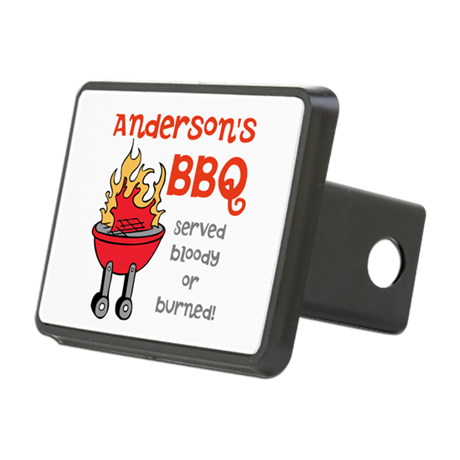 Personalized BBQ Rectangular Hitch Cover