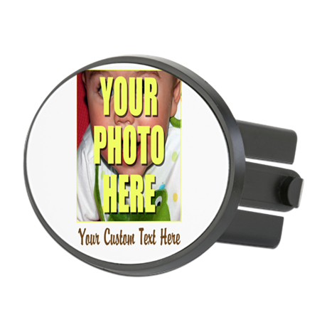 Custom Photo and Text Oval Hitch Cover